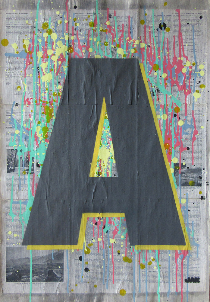 letter A painting by Jak Blue