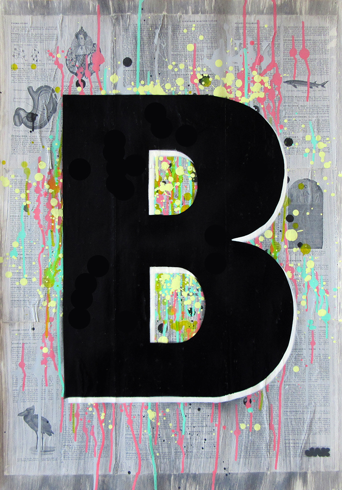 letter B painting by Jak Blue