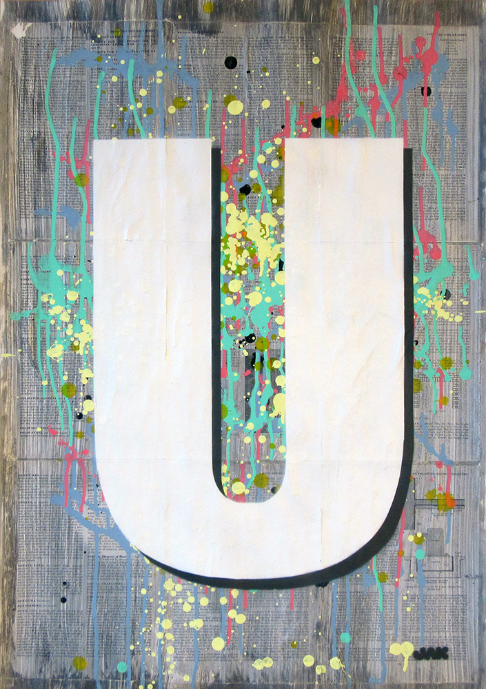 Letter U painting by Jak Blue. View more work on www.jakobussmit.com
