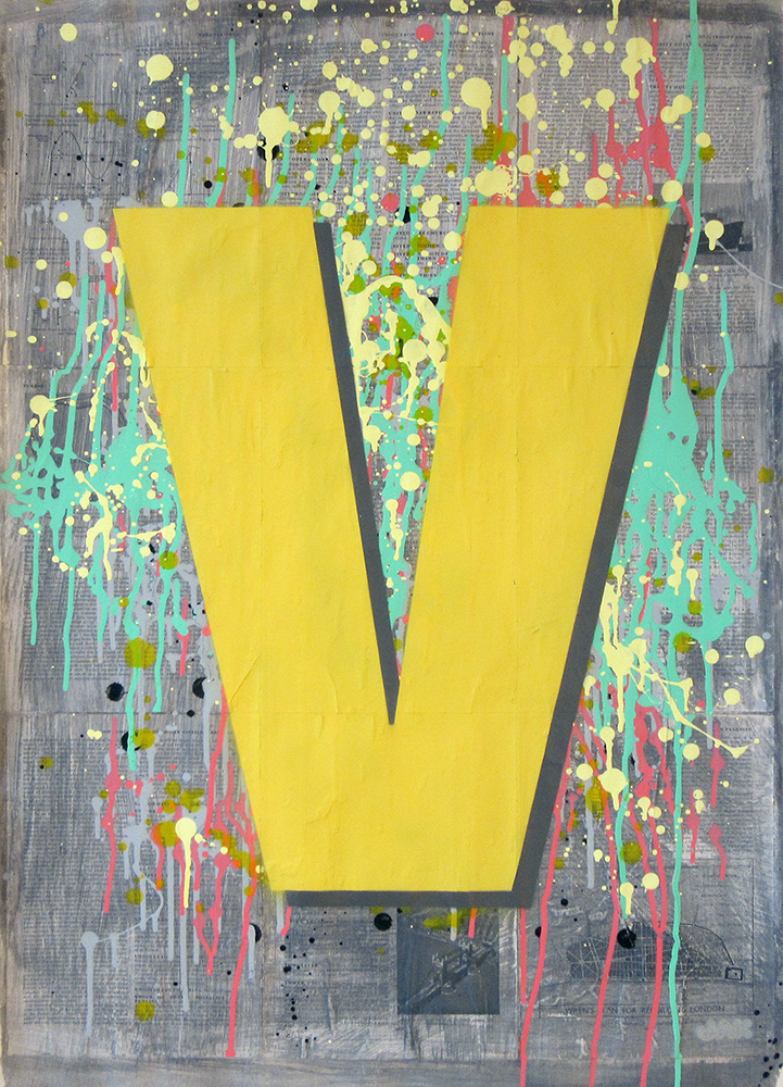 Letter V painting by Jak Blue. View more work on www.jakobussmit.com