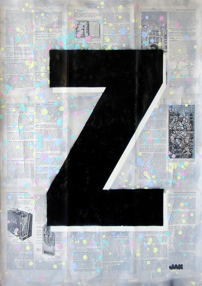 Letter Z painting by Jak Blue. View more work on www.jakobussmit.com